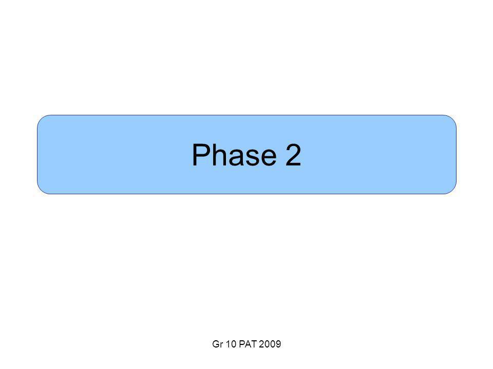 Gr 10 PAT 2009 Phase 2