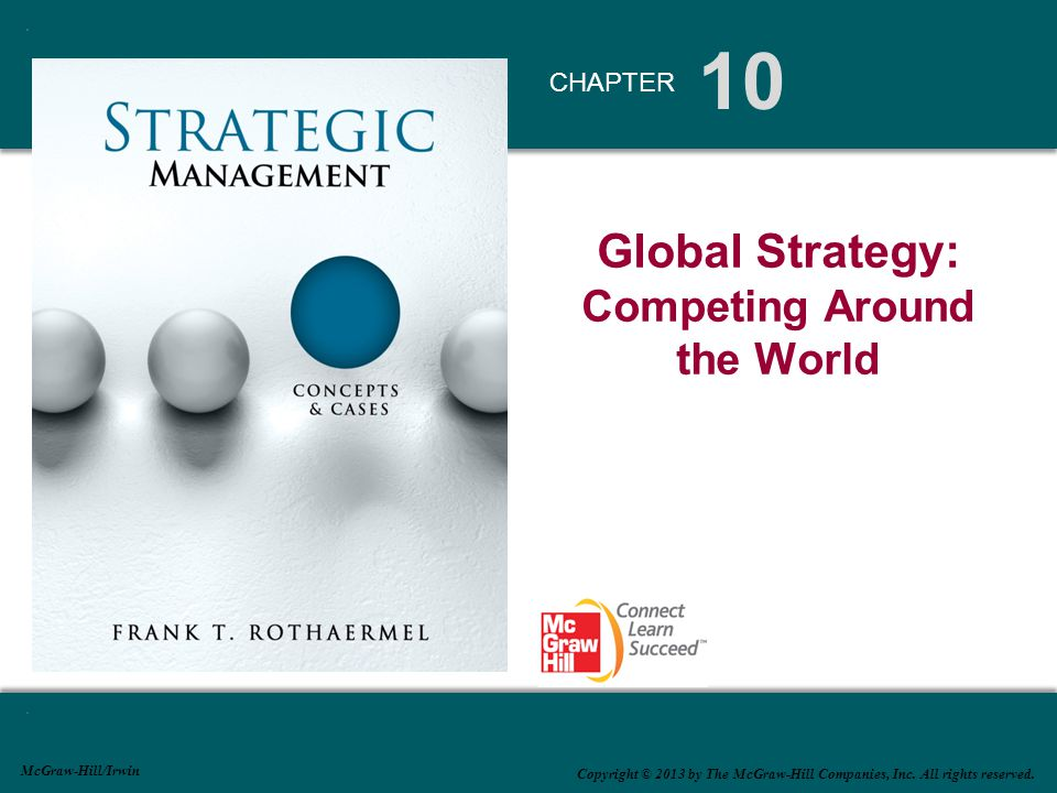 Four Global Strategies Global standardization (cost leadership) strategy   Economies of scale and location economies   Pursuing a global division of labor based on best-of-class capabilities reside at the lowest cost   Example: Lenovo's R&D in Beijing, Shanghai, and Raleigh; production center in Mexico, India, and China Transnational strategy   Combination of localization strategy (high responsiveness) with global standardization strategy (lowest cost position attainable)   Example: German multimedia conglomerate Bertelsmann : Caterpillar's earth-moving equipment