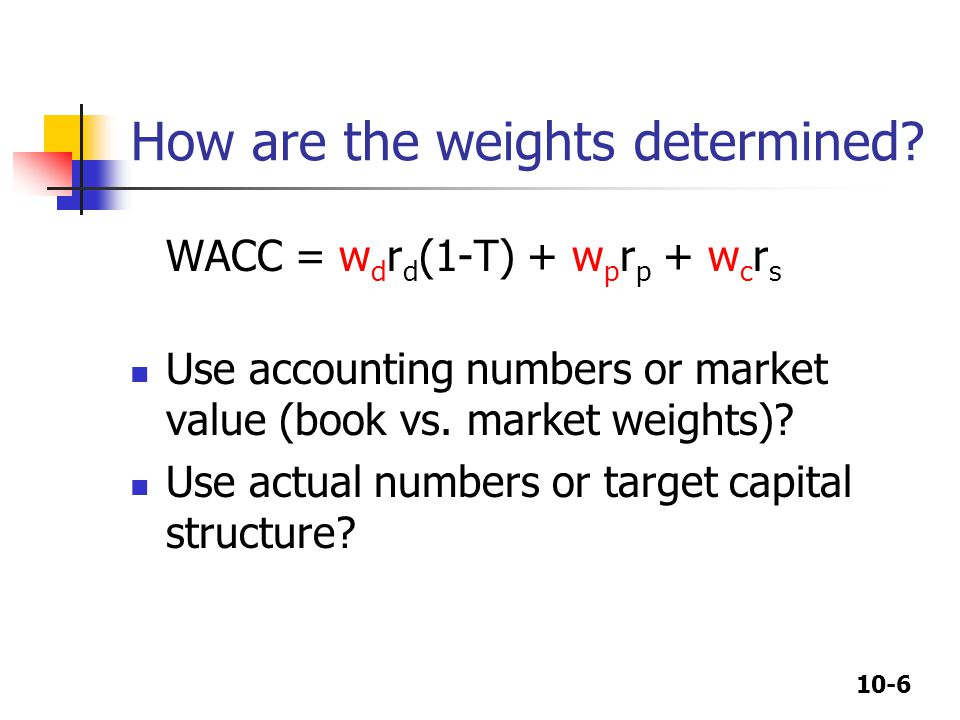 10-6 How are the weights determined.