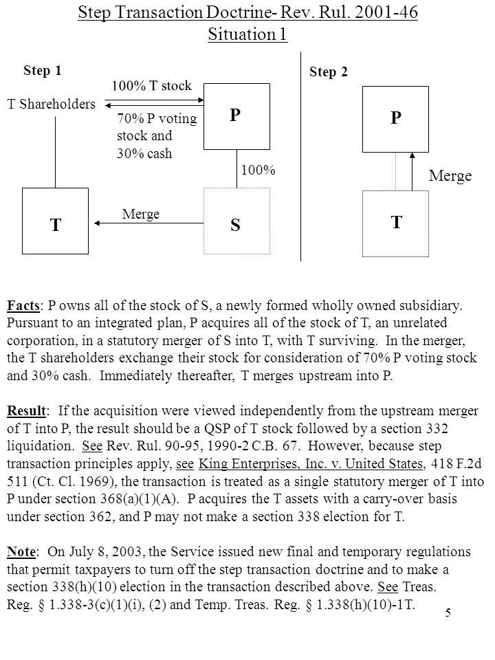5 Step Transaction Doctrine- Rev. Rul.