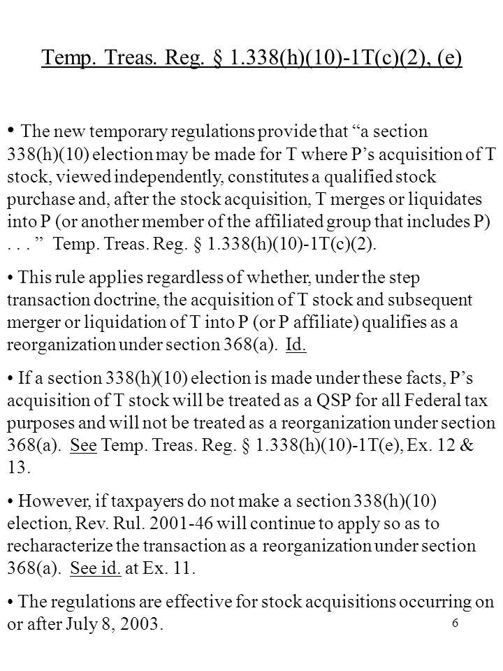 7 Step Transaction Doctrine- Rev.Rul.