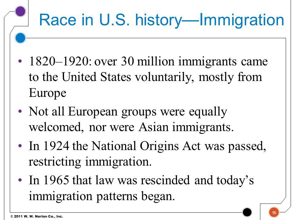 © 2011 W.W. Norton Co., Inc. Race in U.S.