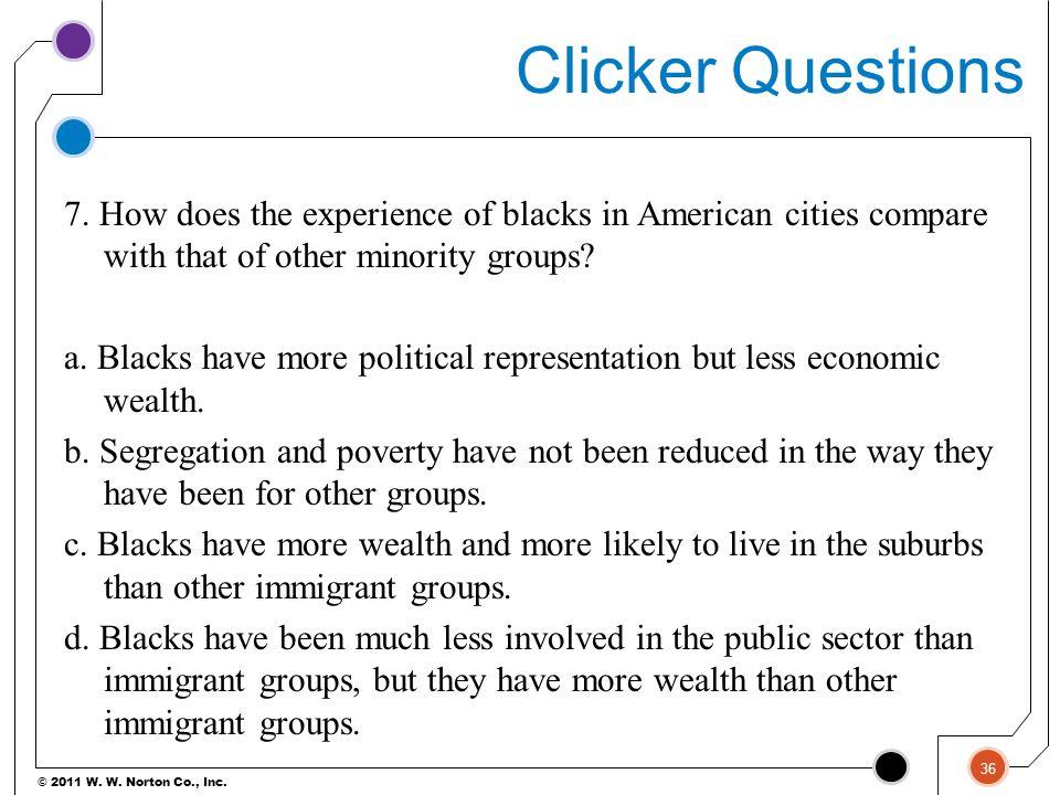© 2011 W.W. Norton Co., Inc. Clicker Questions 7.