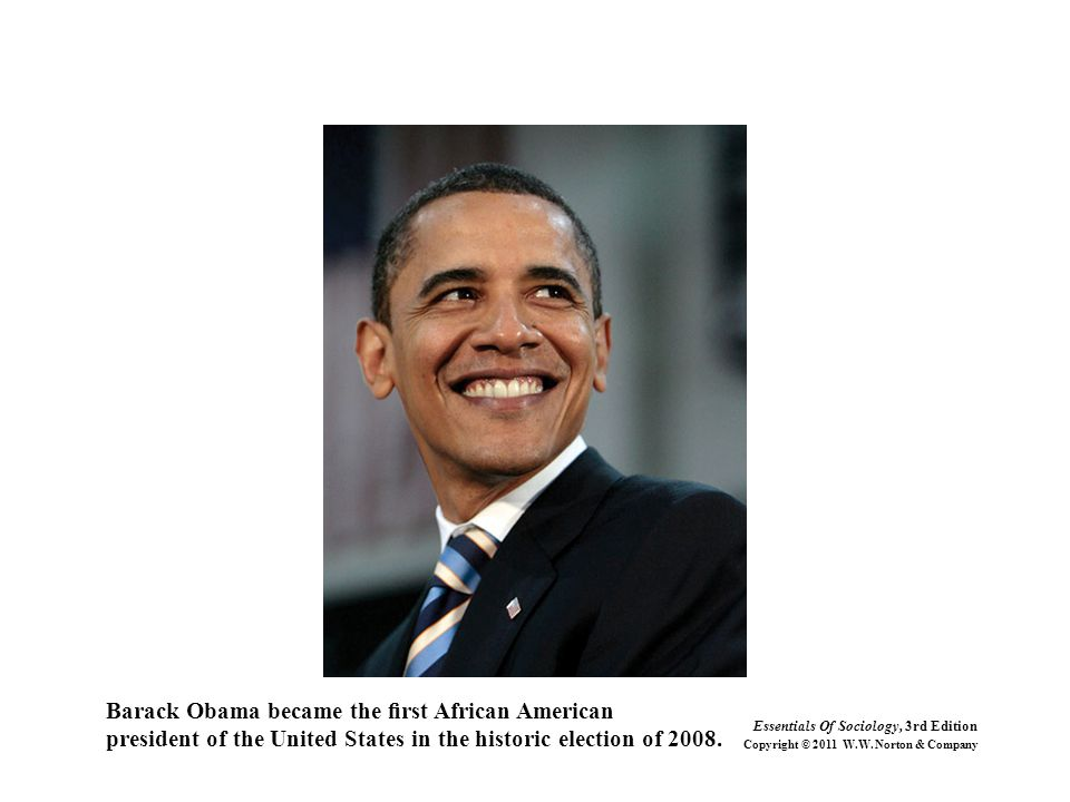 Barack Obama became the first African American president of the United States in the historic election of 2008.