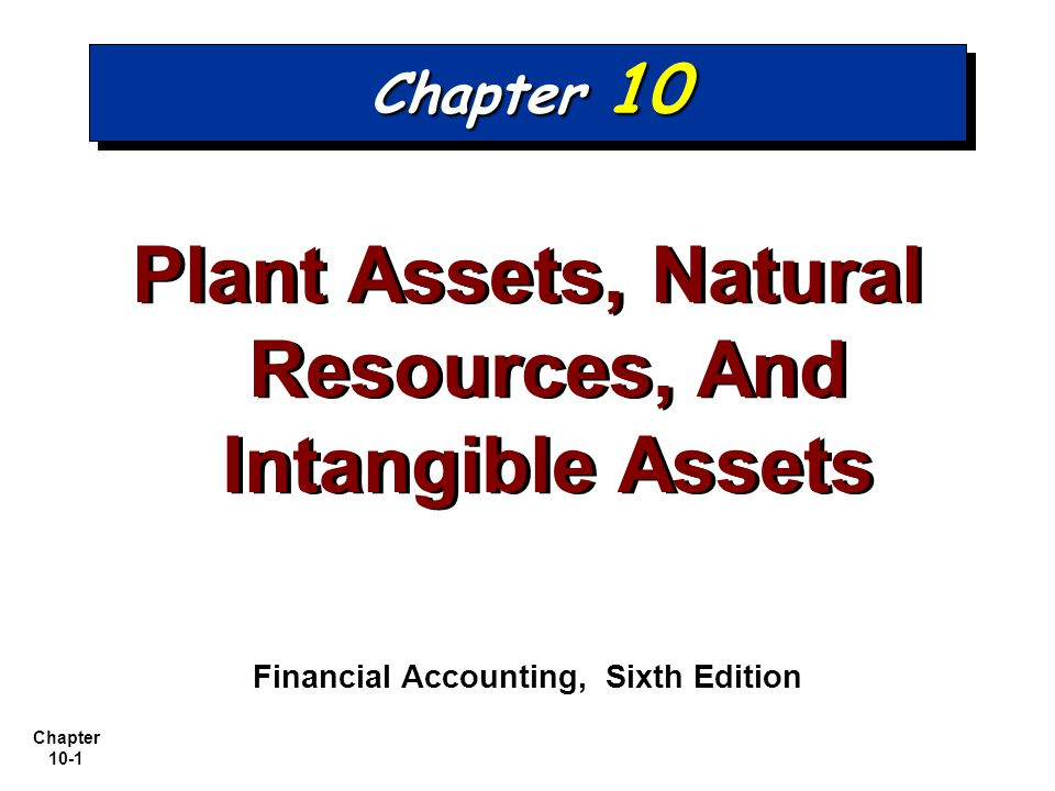 Chapter 10-2 1.1.Describe how the cost principle applies to plant assets.