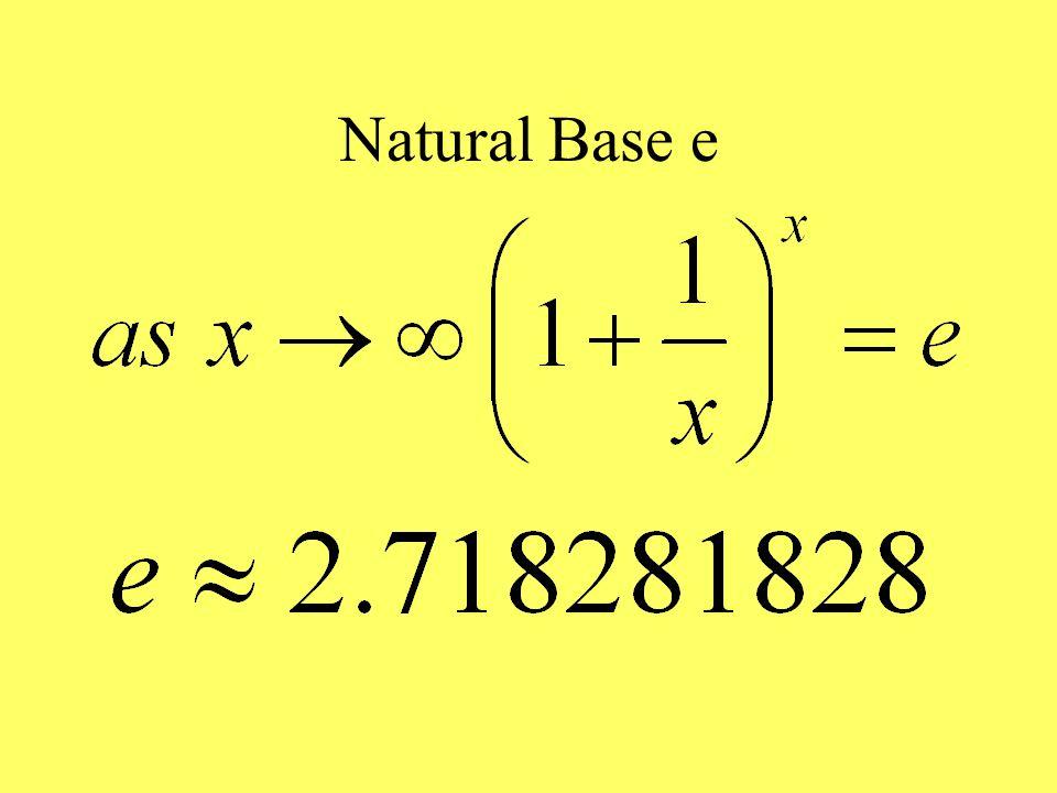 Natural Base e