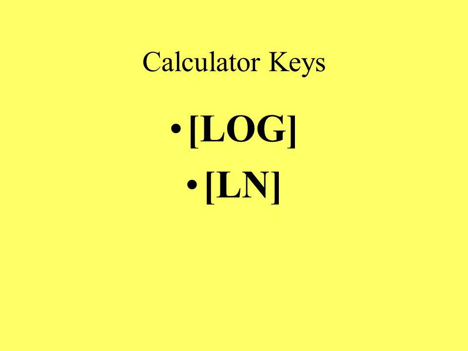 Calculator Keys [LOG] [LN]