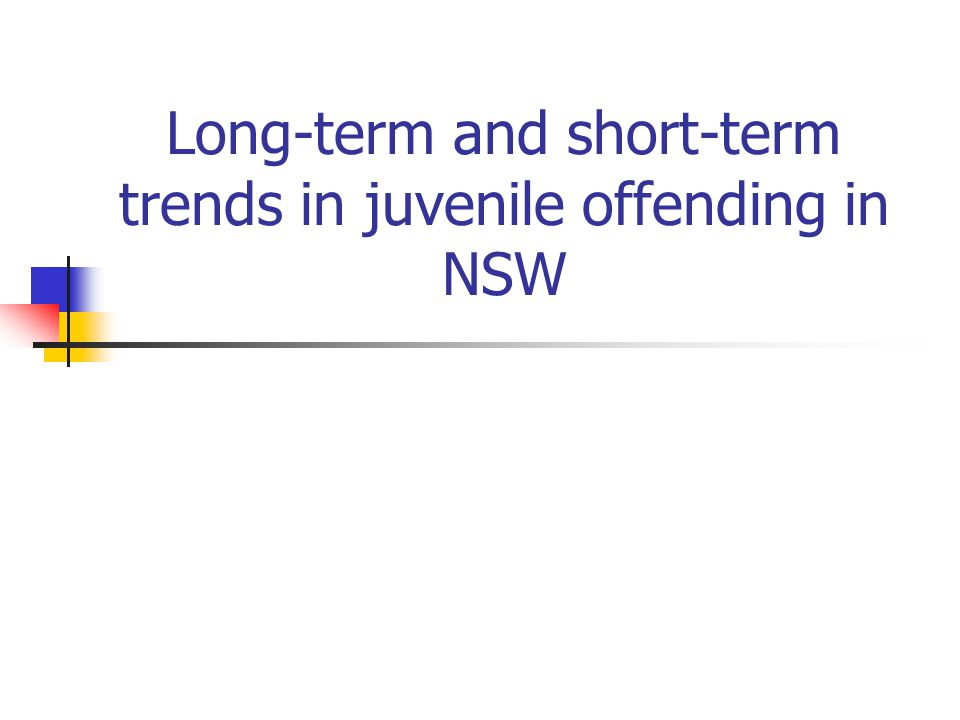 Trends for juvenile offenders by major offences, July 00 to June 10