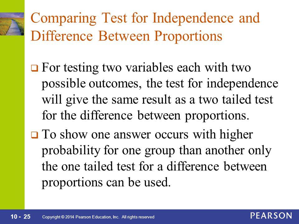 10 - 25 Copyright © 2014 Pearson Education, Inc.