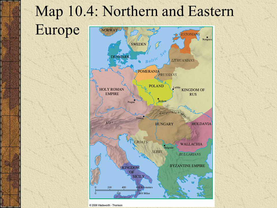 Map 10.4: Northern and Eastern Europe