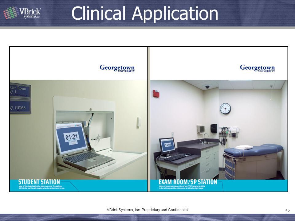 46 VBrick Systems, Inc. Proprietary and Confidential Clinical Application
