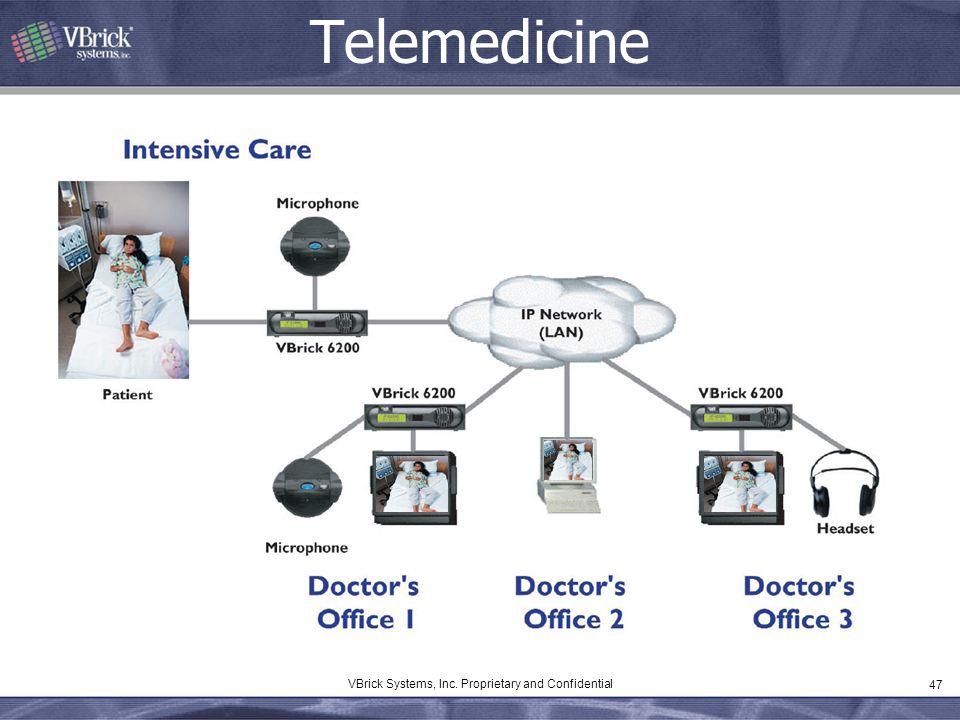 47 VBrick Systems, Inc. Proprietary and Confidential Telemedicine