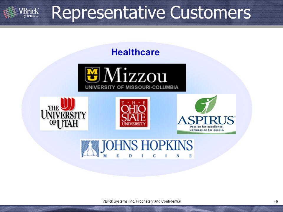 49 VBrick Systems, Inc. Proprietary and Confidential Representative Customers Healthcare