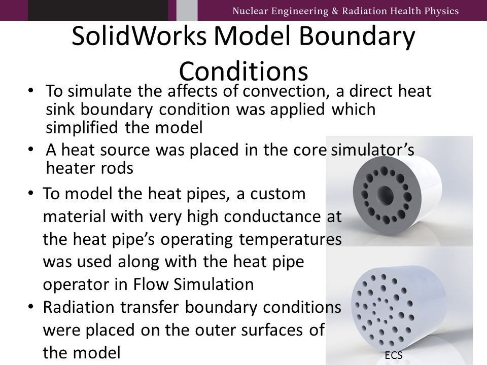 SolidWorks Model Boundary Conditions To simulate the affects of convection, a direct heat sink boundary condition was applied which simplified the mod