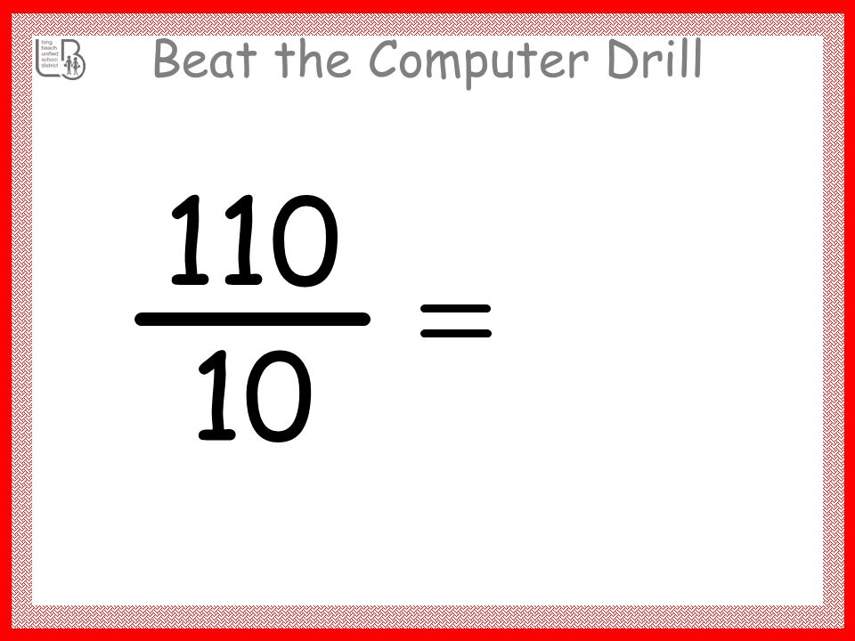 Beat the Computer Drill 70 10 7