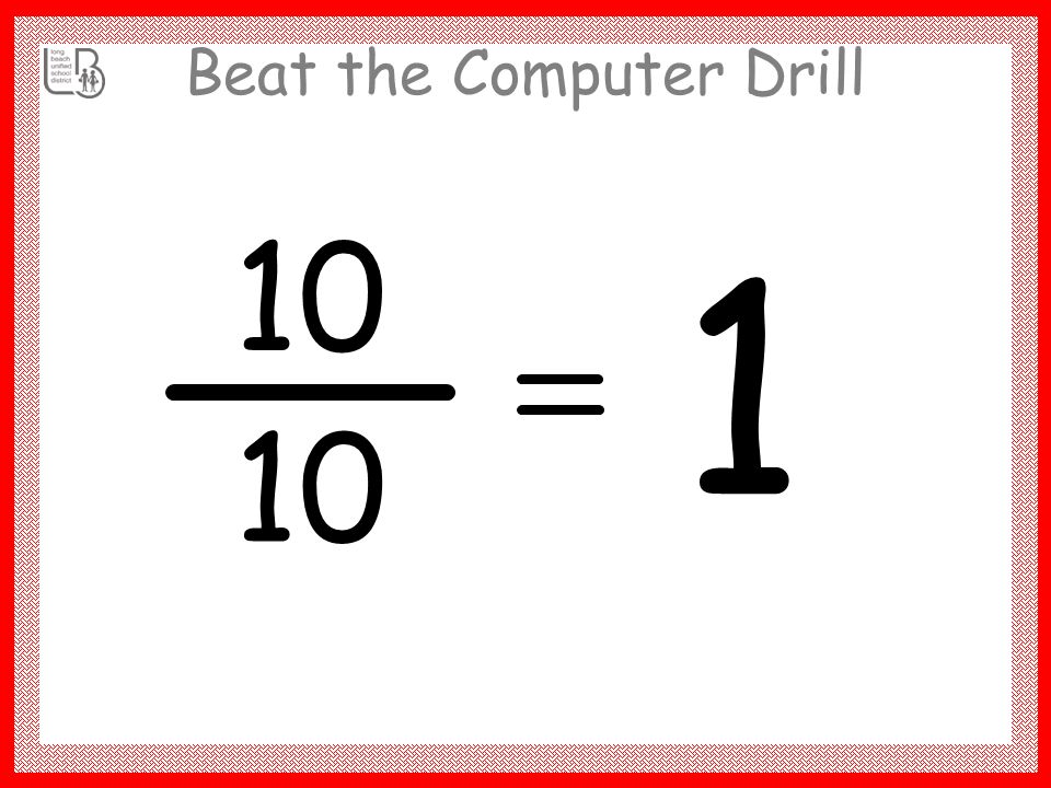 Beat the Computer Drill 10