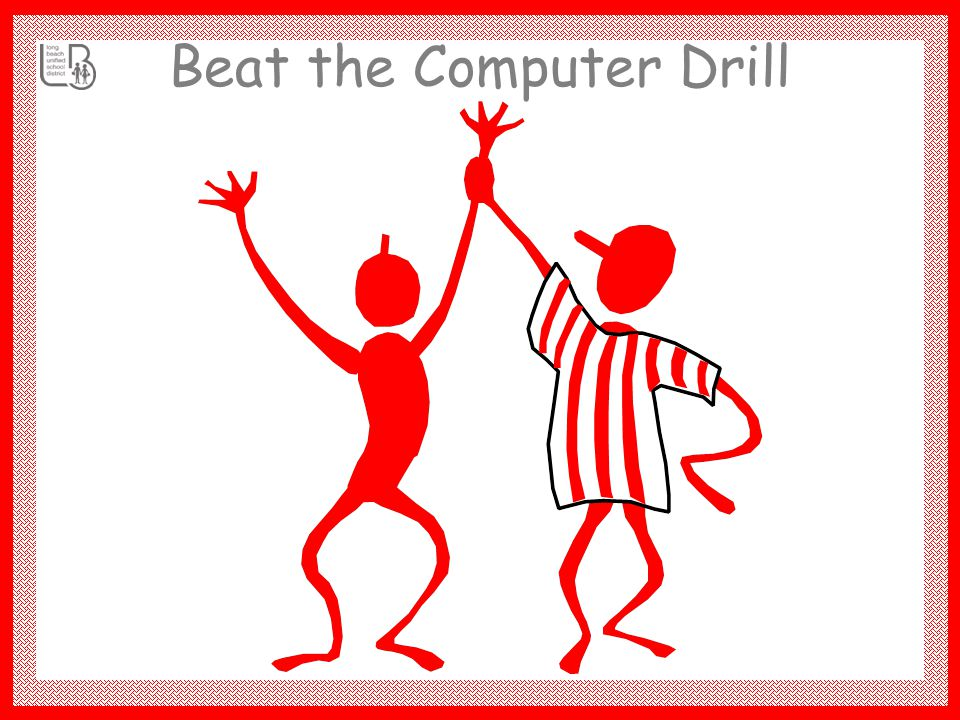 Beat the Computer Drill 100 10