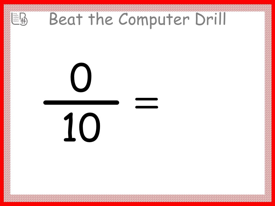 Beat the Computer Drill 90 10 9