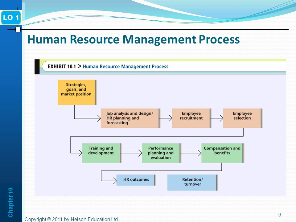 Chapter 10 Human Resource Management Process 6 Copyright © 2011 by Nelson Education Ltd.