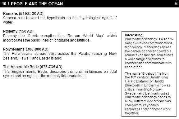 47 10.2 CONSERVATION 10.2.2 Problems Humans affect the ocean in a variety of ways.