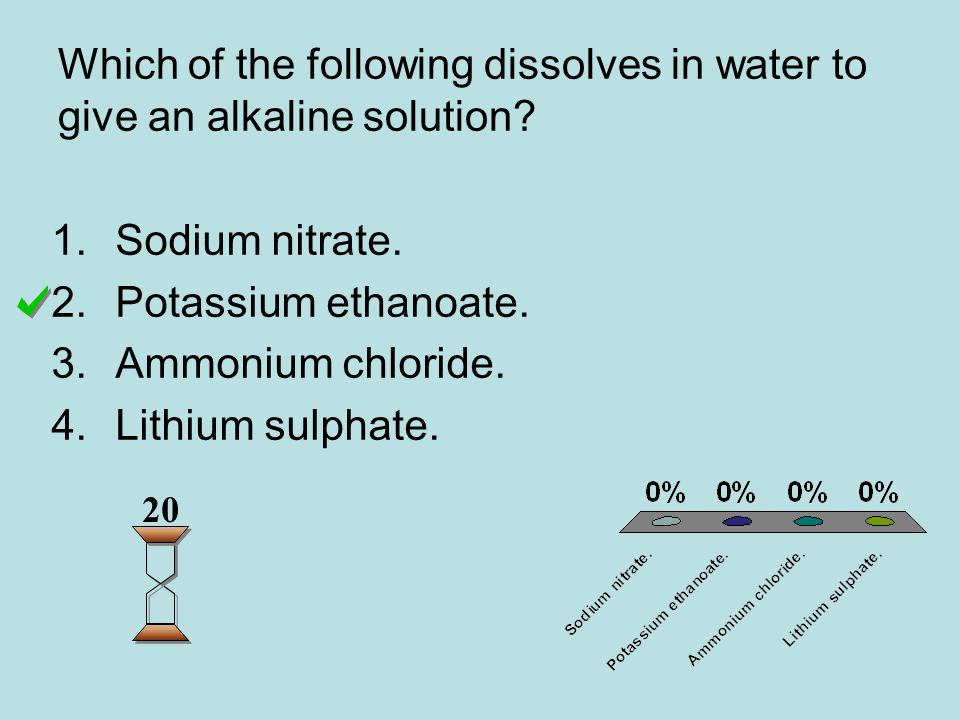 Which of the following dissolves in water to give an alkaline solution.