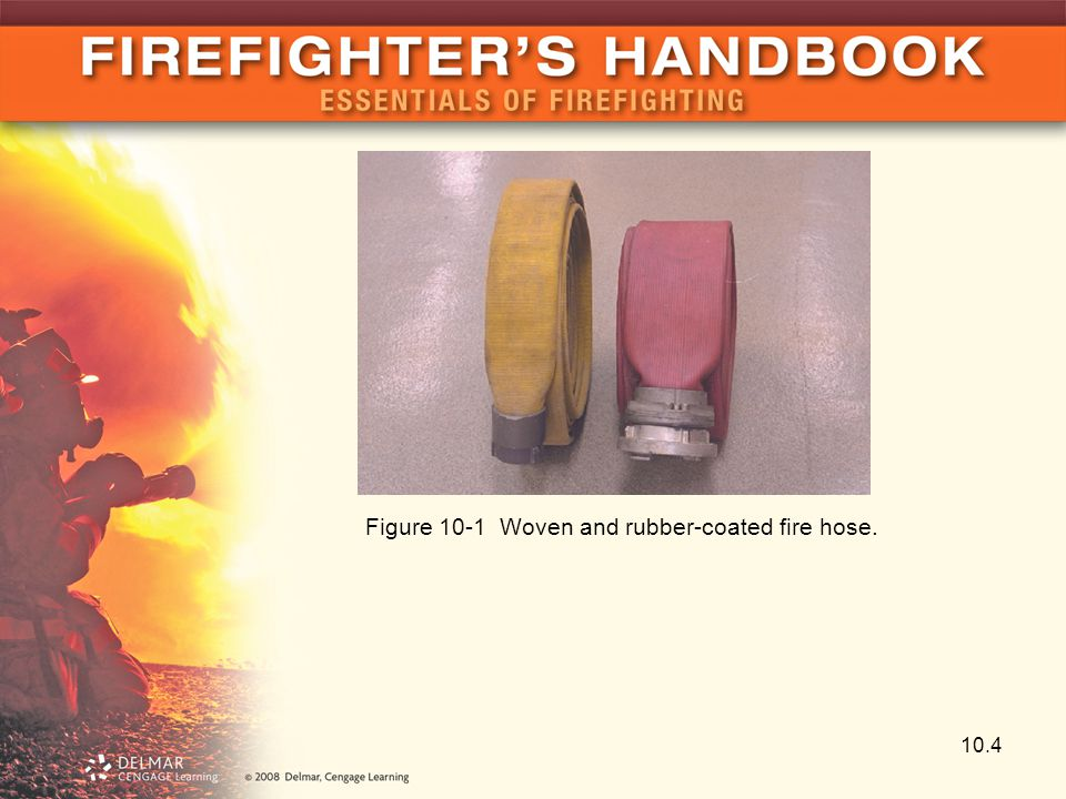 10.4 Figure 10-1 Woven and rubber-coated fire hose.