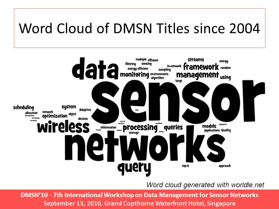 DMSN'10 - 7th International Workshop on Data Management for Sensor Networks September 13, 2010, Grand Copthorne Waterfront Hotel, Singapore Complementary Technologies.