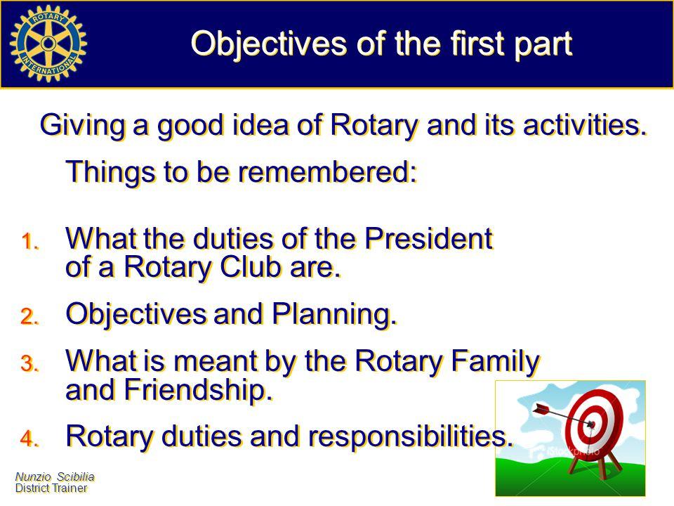 Nunzio Scibilia District Trainer Nunzio Scibilia District Trainer Rotary International - Rotary Foundation r.