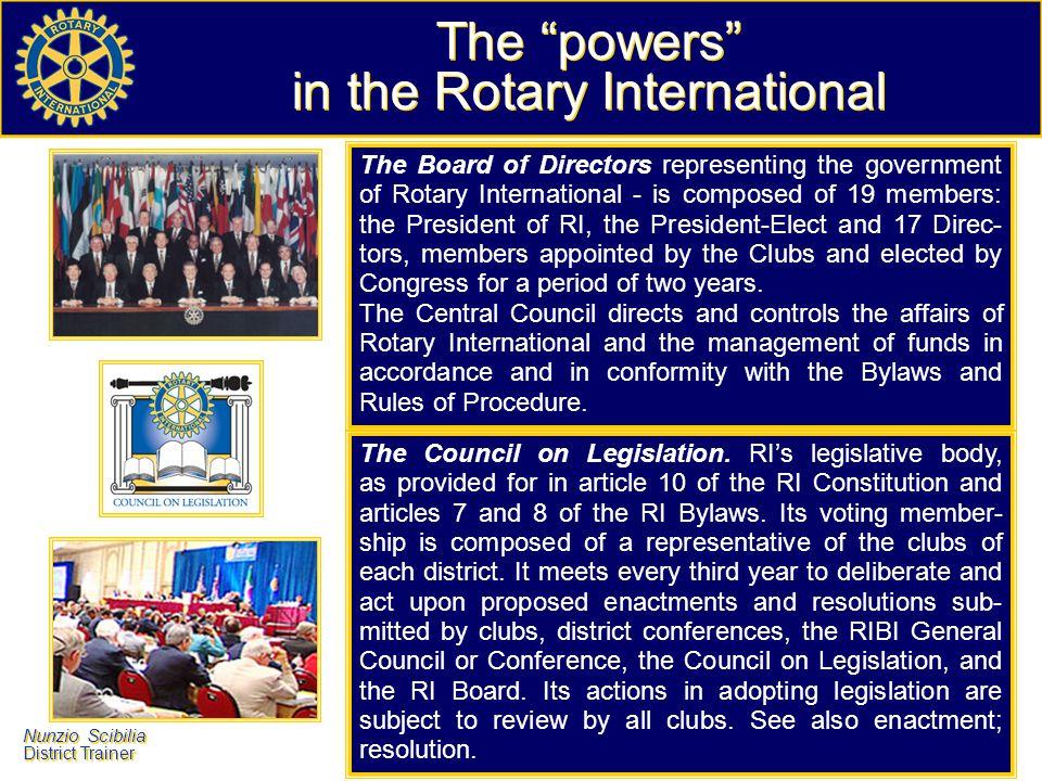 Nunzio Scibilia District Trainer Nunzio Scibilia District Trainer would be nice, for each of us, help Rotary meet the challenge