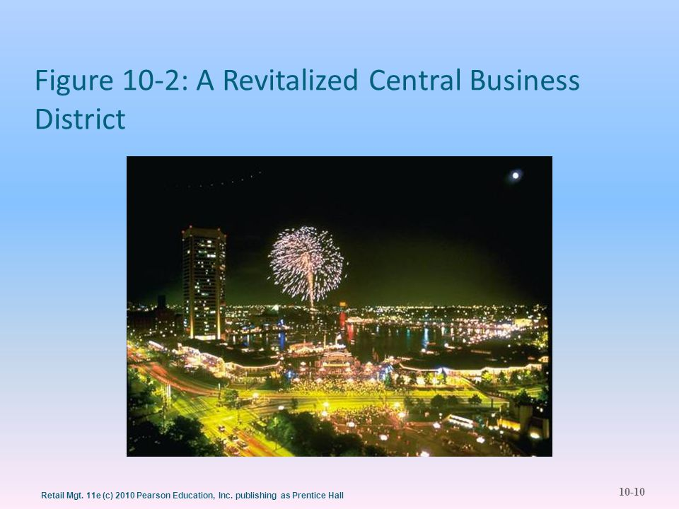 10-10 Retail Mgt. 11e (c) 2010 Pearson Education, Inc. publishing as Prentice Hall Figure 10-2: A Revitalized Central Business District