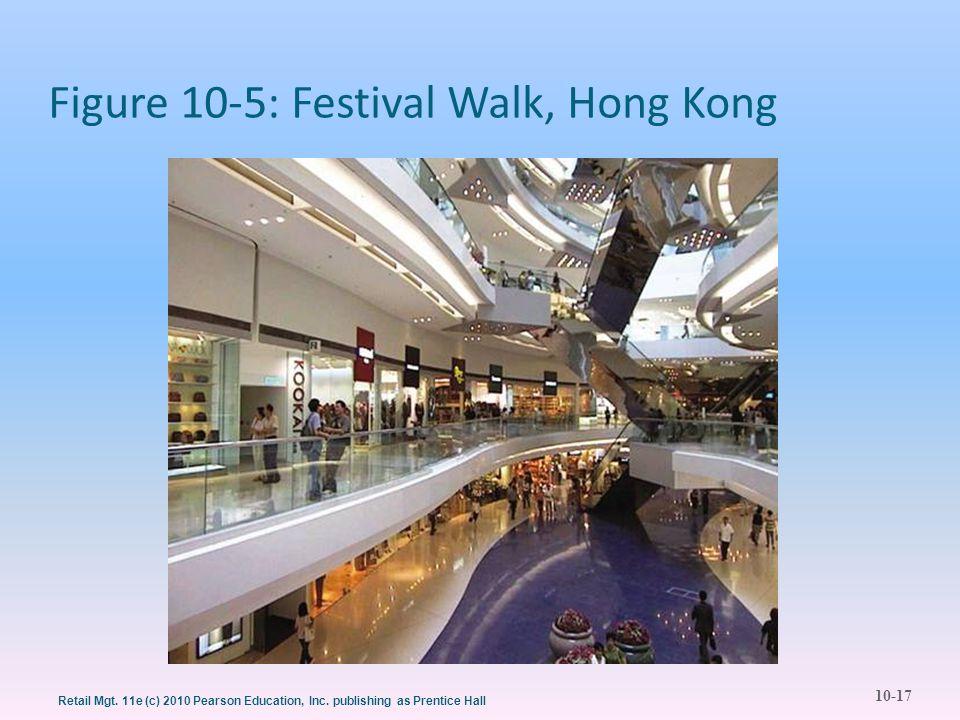 10-17 Retail Mgt. 11e (c) 2010 Pearson Education, Inc. publishing as Prentice Hall Figure 10-5: Festival Walk, Hong Kong