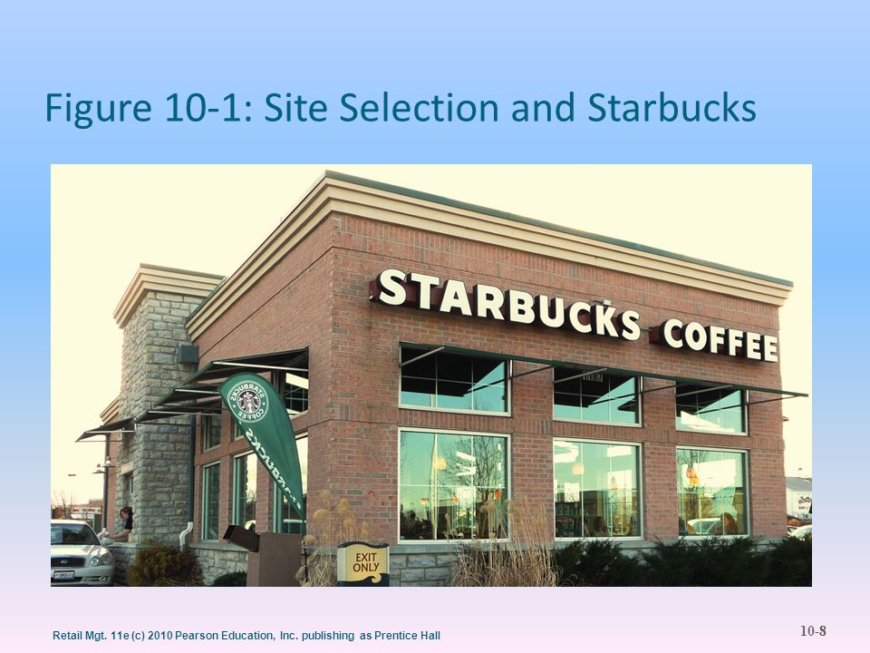 10-8 Retail Mgt. 11e (c) 2010 Pearson Education, Inc. publishing as Prentice Hall Figure 10-1: Site Selection and Starbucks 8