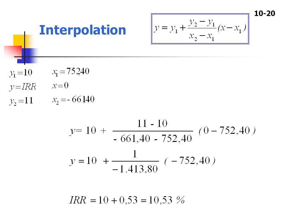 10-20 Interpolation