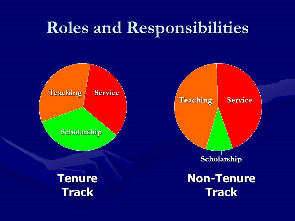 Tenure Track Non-Tenure Track Scholarship ServiceTeaching TeachingService Scholarship