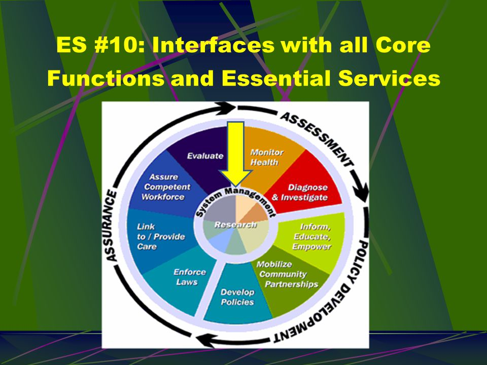 ES #10: Interfaces with all Core Functions and Essential Services