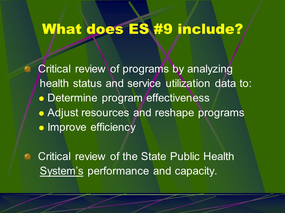 ES #10 in plain English … Support innovation, identify and use best practices.