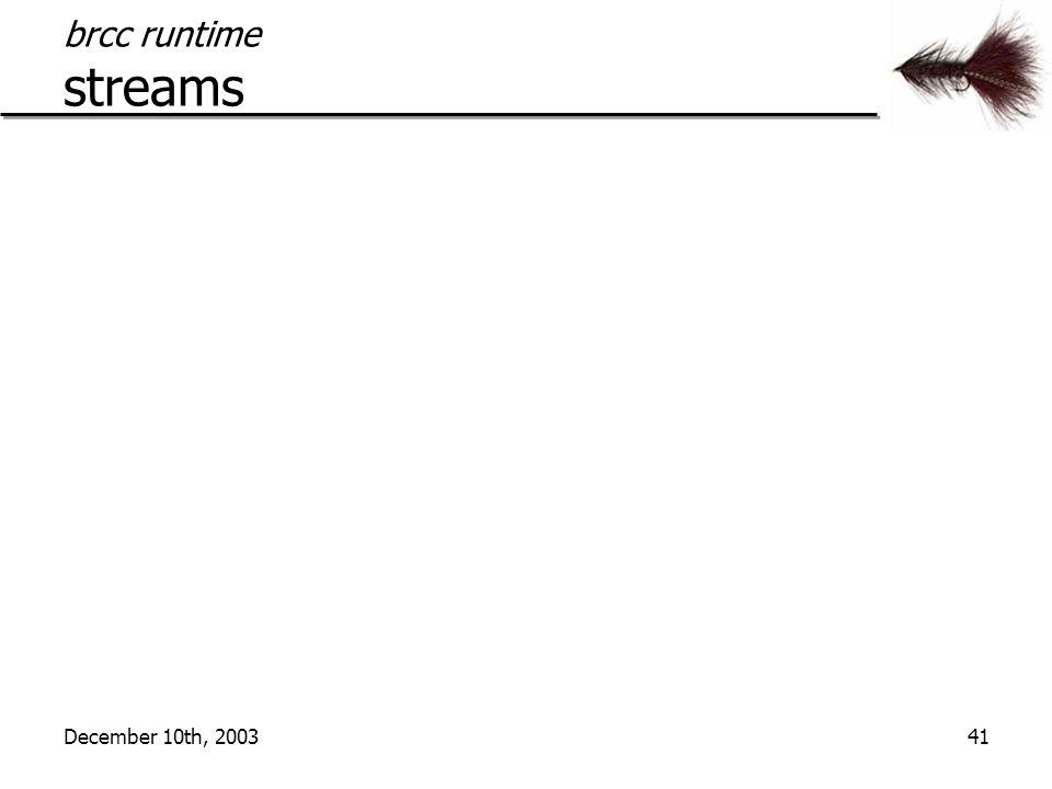 December 10th, 200341 brcc runtime streams