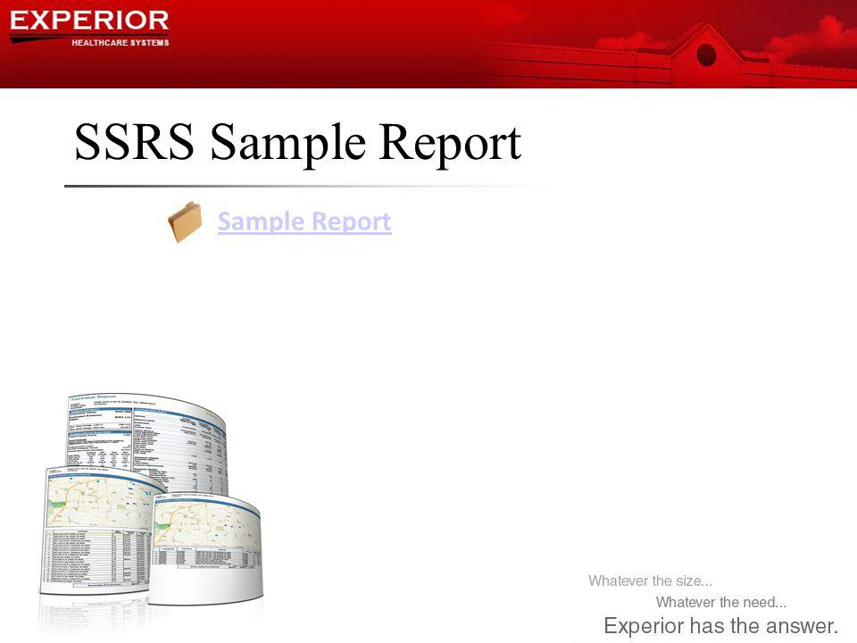 SSRS Sample Report Sample Report