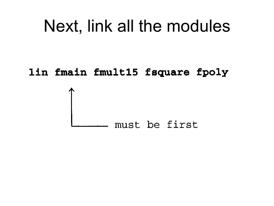 Next, link all the modules