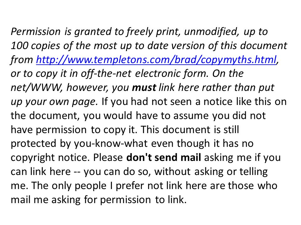 Permission is granted to freely print, unmodified, up to 100 copies of the most up to date version of this document from http://www.templetons.com/bra