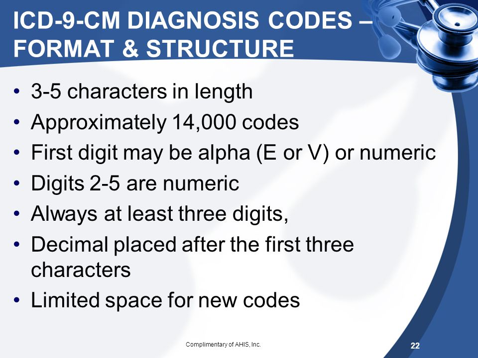 ICD-10 Code composition – increased specificity Level of detail May consist of up to 7 digits with the seventh digit extensions representing visit enc