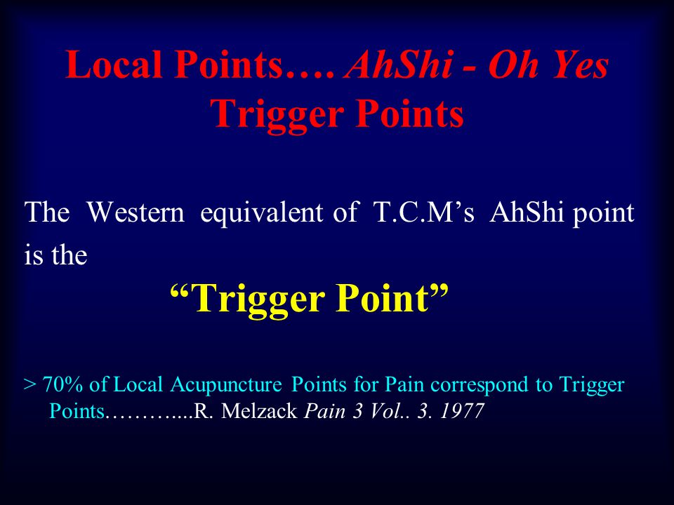 Myofascial Trigger Points Where East Meets West Both Western and TCMWest Only Professor David Simons -Journal of Musculoskeletal Pain