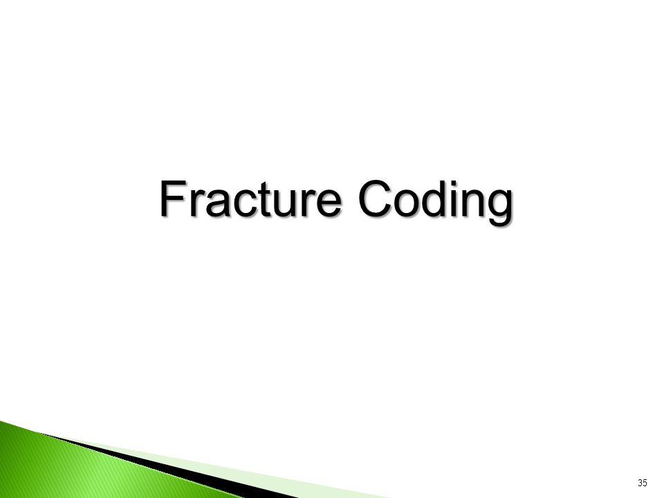 Fracture Coding 35