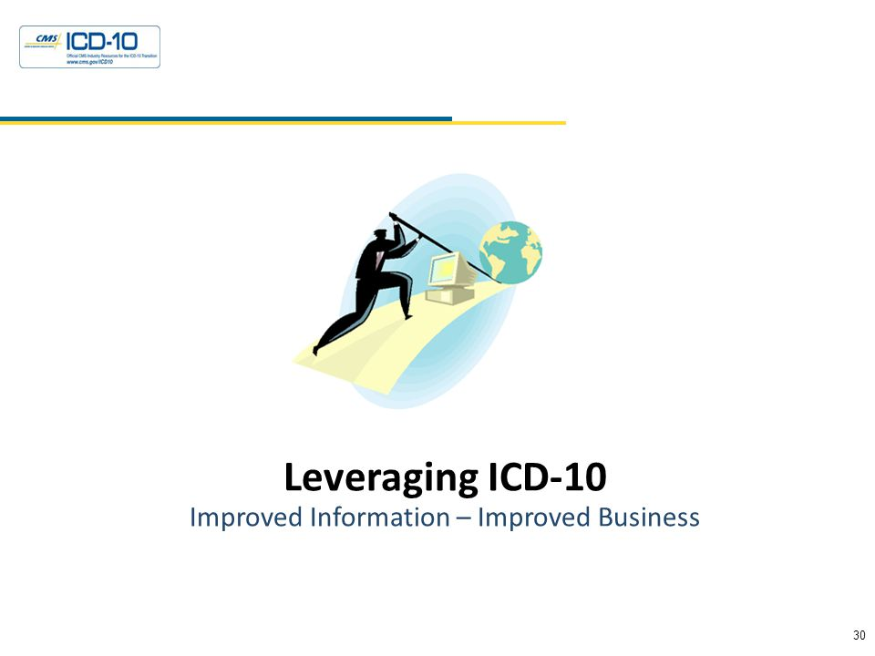 30 Health Data Consulting © 2010 Leveraging ICD-10 Improved Information – Improved Business