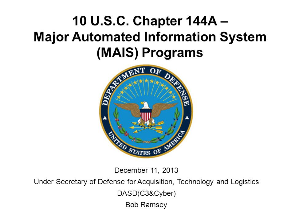 12 UNCLASSIFIED MAIS Quarterly Report (MQR) 10 U.S.C.