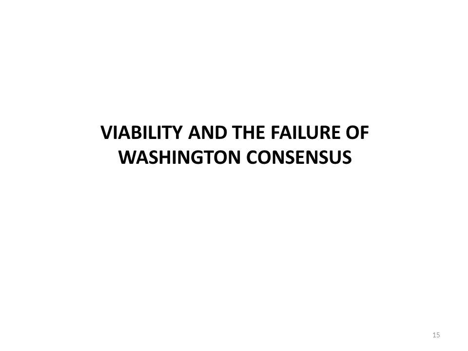 VIABILITY AND THE FAILURE OF WASHINGTON CONSENSUS 15