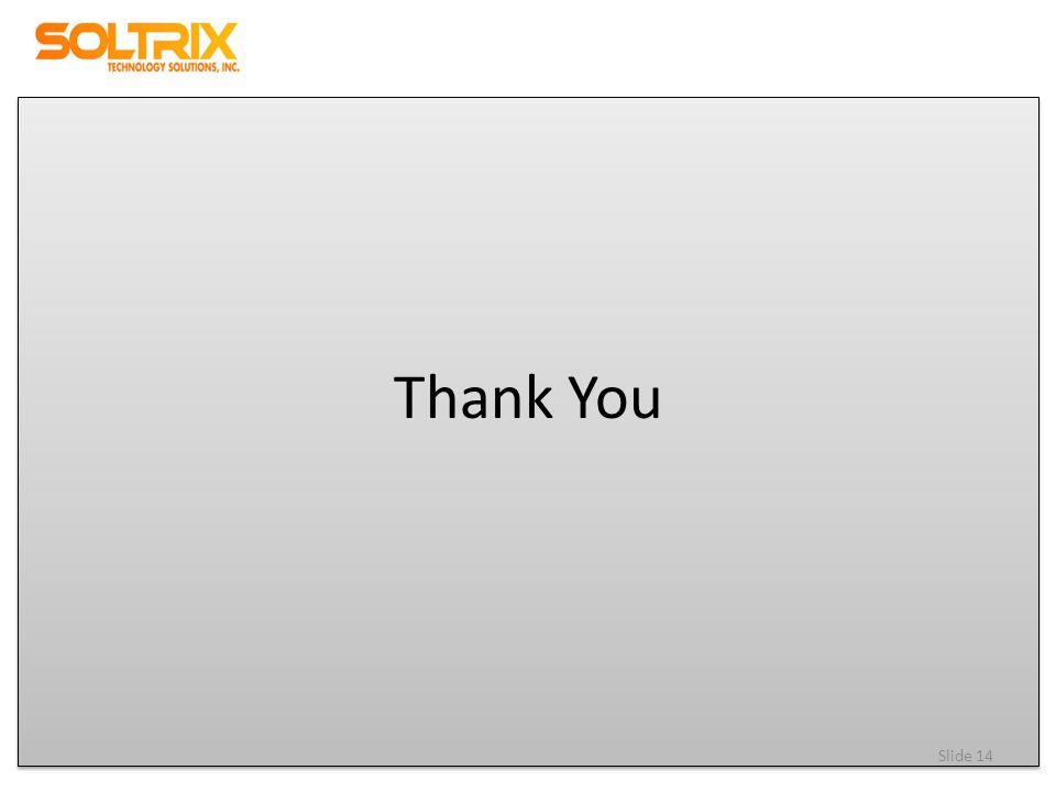 Thank You Slide 14