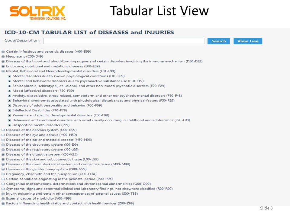 Tabular List View Slide 8
