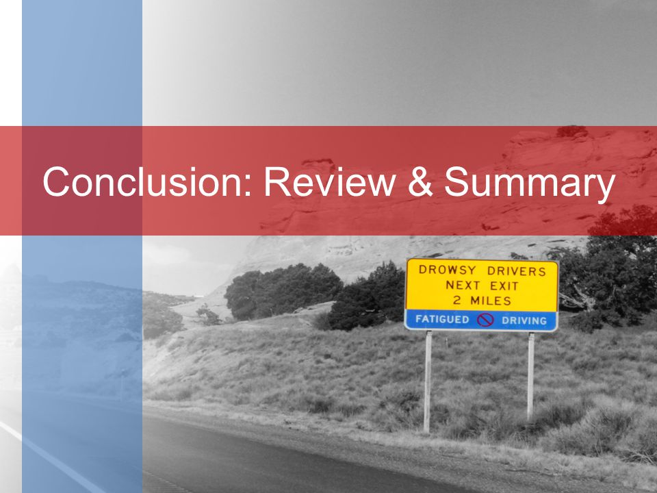 Conclusion: Review & Summary