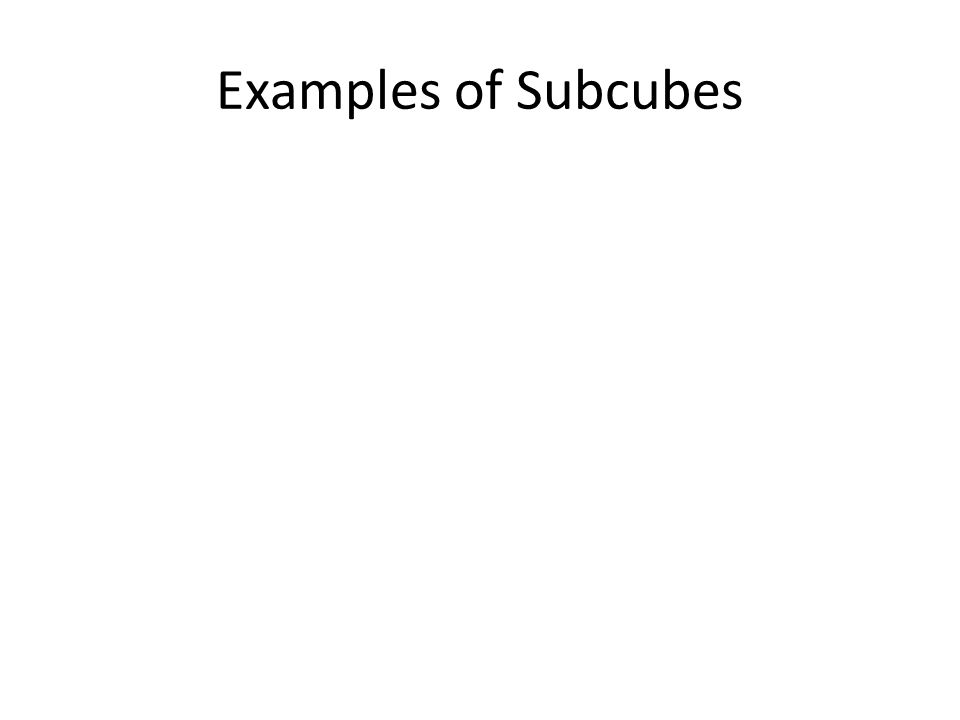 Examples of Subcubes